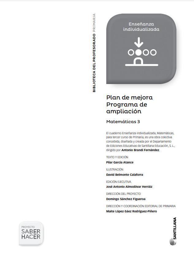 Cuaderno de Matematicas 3 Primaria Santillana PDF