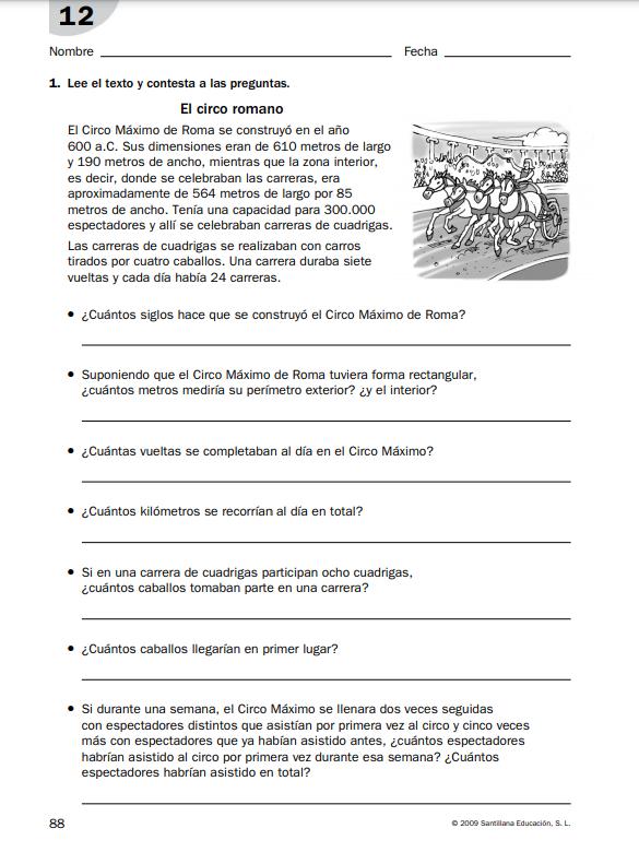 Ejercicios Matematicas 6 Primaria PDF con soluciones