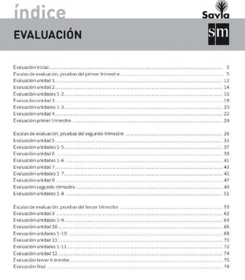 Evaluacion Matematicas 6 Primaria sm SAVIA PDF