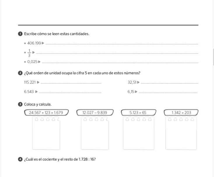 Examenes Matematicas 5 Primaria SM SAVIA