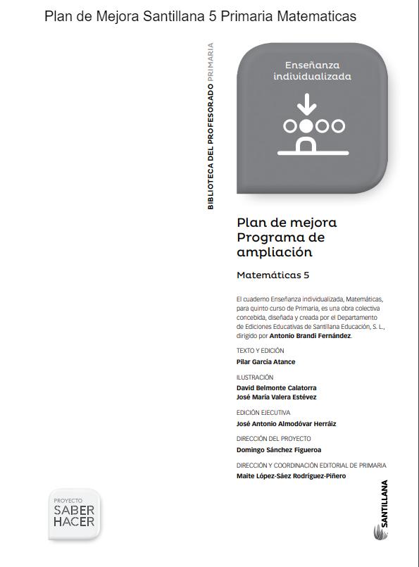 Problemas y Ejercicios Matematicas 5 Primaria Santillana PDF