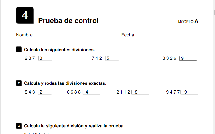 Evaluacion de Contenidos Saber Hacer Santillana 4 Primaria Matematicas