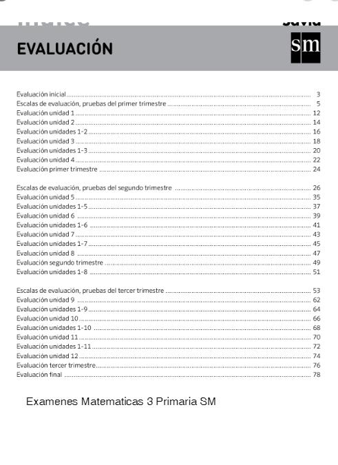 SM SAVIA Evaluaciones 3 Primaria