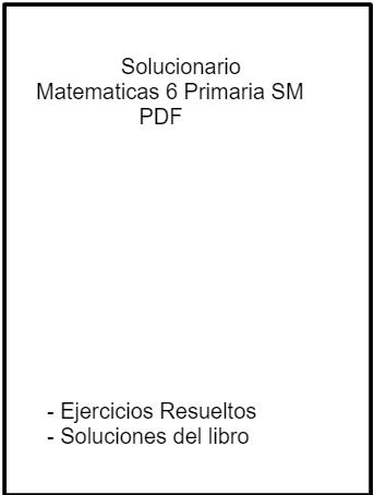 Solucionario Matematicas 6 Primaria SM SAVIA PDF